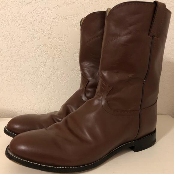 Justin Boots Shoes   Mens Justin Tan